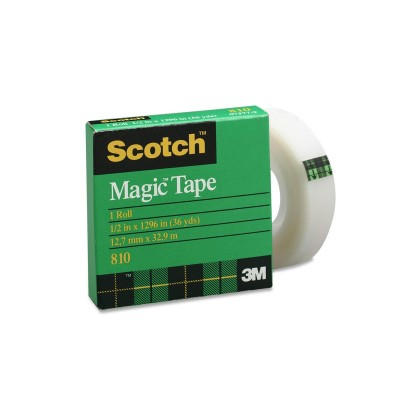 "3M Scotch Magic Tape 12.7mm X 32.9m (1/2""X36Y)"