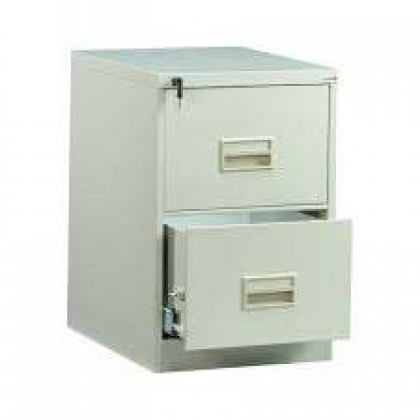 2 Drawer Filing Cabinet With Recess Handle (ST-106C)