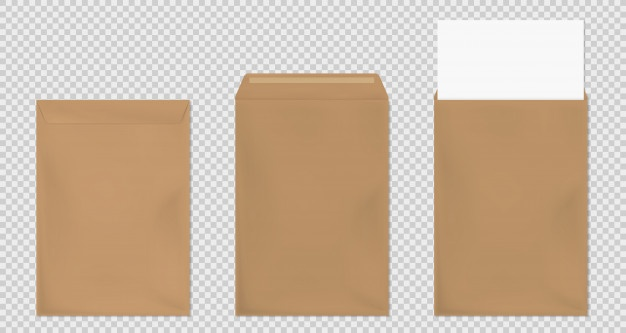 Envelop (white or brown), Packing List
